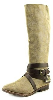 Rampage Isadora Round Toe Leather Knee High Boot.
