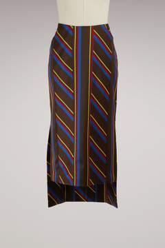 Aalto Bimaterial Skirt Stripes
