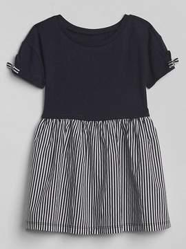 Gap Bow Mix-Fabric Dress