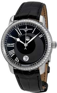 Ulysse Nardin Classico Luna Automatic Diamond Black Dial Men's Watch