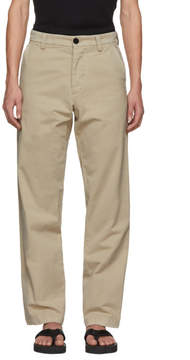 J.W.Anderson Beige Flax Chino Trousers