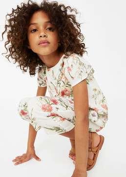 MANGO Floral print jumpsuit
