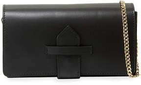 Neiman Marcus Flapover Leather Crossbody Bag