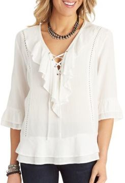 Democracy Cascade Laced Front Top