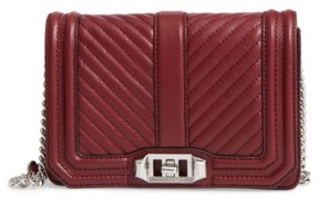 Rebecca Minkoff Small Love Leather Crossbody Bag - Red