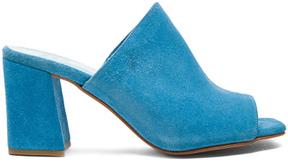 Maryam Nassir Zadeh Suede Penelope Mules in Blue.