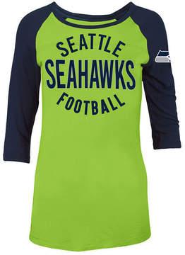 5th & Ocean Women's Seattle Seahawks Rayon Raglan T-Shirt