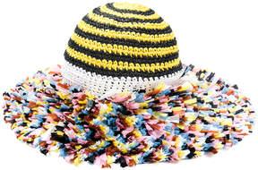 Missoni knitted beach hat