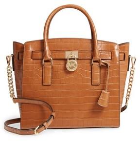 MICHAEL Michael Kors Large Hamilton Leather Satchel - Brown