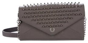 Rebecca Minkoff Studded Wallet On Chain - BLACK - STYLE