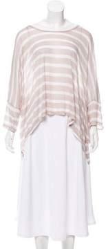 Enza Costa Striped Short Sleeve Top