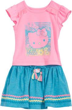 Hello Kitty Baby Girls 2-Pc. Graphic-Print Top & Skirt Set