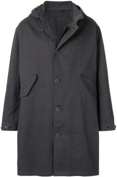 Lemaire hooded button up coat