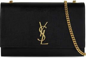 Saint Laurent Monogram large leather shoulder bag - BLACK - STYLE