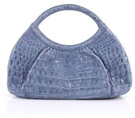 Nancy Gonzalez Pre-owned: Pleated Handle Bag Crocodile Small.