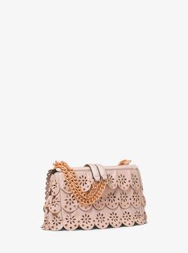MICHAEL Michael Kors Sloan Small Floral Scalloped Leather Shoulder Bag