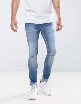 Loyalty And Faith Siret Super Skinny Jeans with Ripped Knees in Light Wash