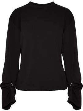 3.1 Phillip Lim Embellished Cotton-jersey Top - Black