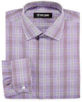 Stacy Adams Long Sleeve Woven Checked Dress Shirt