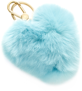 Furla Women's Bubble Heart Pom Pom Keyring