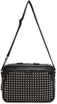 Alexander McQueen Black Studded Camera Bag