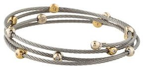 Charriol Diamond Cable Wrap Bracelet