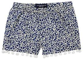 Toobydoo Addison Printed Pompom Shorts (Toddler, Little Girls, & Big Girls)