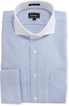 Neiman Marcus Dobby Check Dress Shirt, Blue
