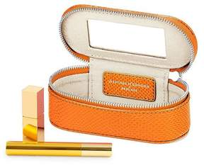 Aspinal of London Handbag Tidy All In Orange Lizard