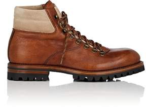 Antonio Maurizi MEN'S SUEDE-TRIMMED LEATHER HIKING BOOTS