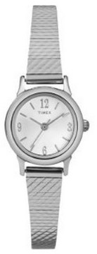 Timex Women's Silver Analog Dress Watch T2P299