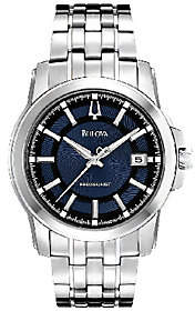 Bulova Men's Precisionist Blue Dial Stainless Steel Watch