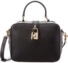 Dolce & Gabbana Leather Box Top Handle - BLACK - STYLE
