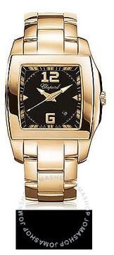 Chopard Two O Ten Black Dial 18kt Rose Gold Ladies Watch