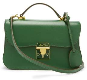 Mark Cross Dorothy Grained Leather Shoulder Bag - Womens - Dark Green