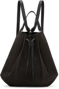 Maison Margiela Grey Large Suede Backpack