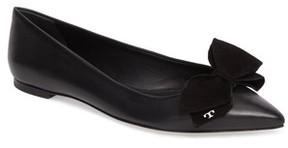Tory Burch Women's Rosalind Bow Pointy Toe Flat