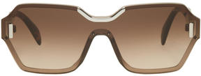 Prada Pink and Tortoiseshell Square Runway Sunglasses