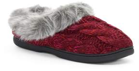 Dearfoams Women's Cable Knit Clog Slippers