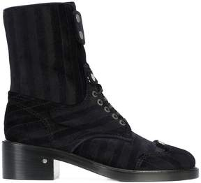 Laurence Dacade Manu Stripes lace up boots