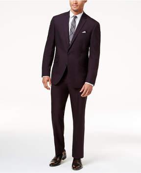 Kenneth Cole Reaction Men's Techni-Cole Slim-Fit Burgundy Iridescent Suit