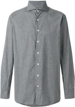 Lardini club collar checked shirt