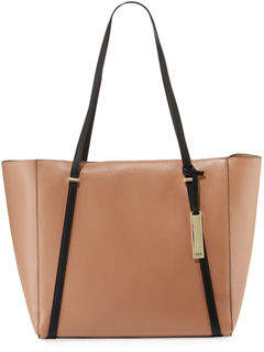 Neiman Marcus Sarah Two-Tone Tote Bag with Charger