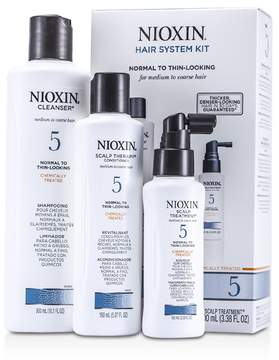 Nioxin System 5 Kit For Medium to Coarse & Normal to Thin-Looking Hair: Cleanser 300ml + Scalp Therapy 150ml + Scalp Treatment 100ml