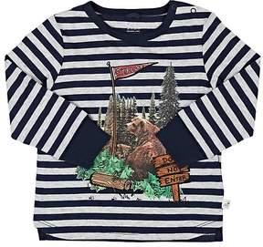 Stella McCartney Infants' Bear-Print Striped Cotton T-Shirt