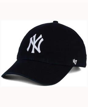 '47 New York Yankees Black White Clean Up Cap