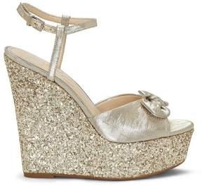 Jessica Simpson Amella Glitter Wedge Platform Sandal