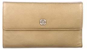 Chanel Metallic Trifold Wallet