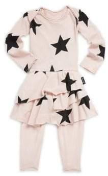 Nununu Baby Girl's Star Print Skirted Coverall