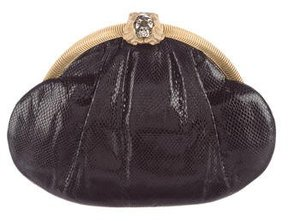 Judith Leiber Pleated Lizard Clutch